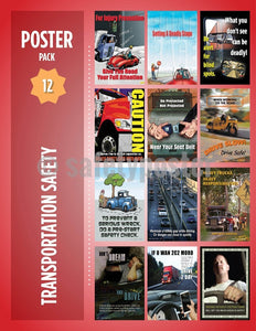 Safety Posters Pack - Transportation Poster Packs