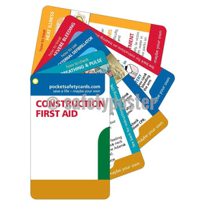 Pocket Cards - Construction First Aid - safetyposter.com