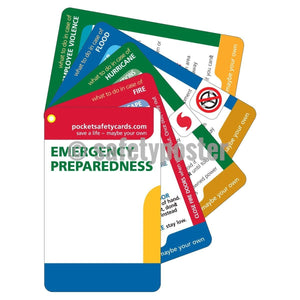 Pocket Cards - Emergency Preparedness - safetyposter.com