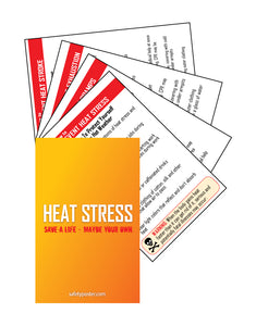 Pocket Cards - Heat & Cold Stress