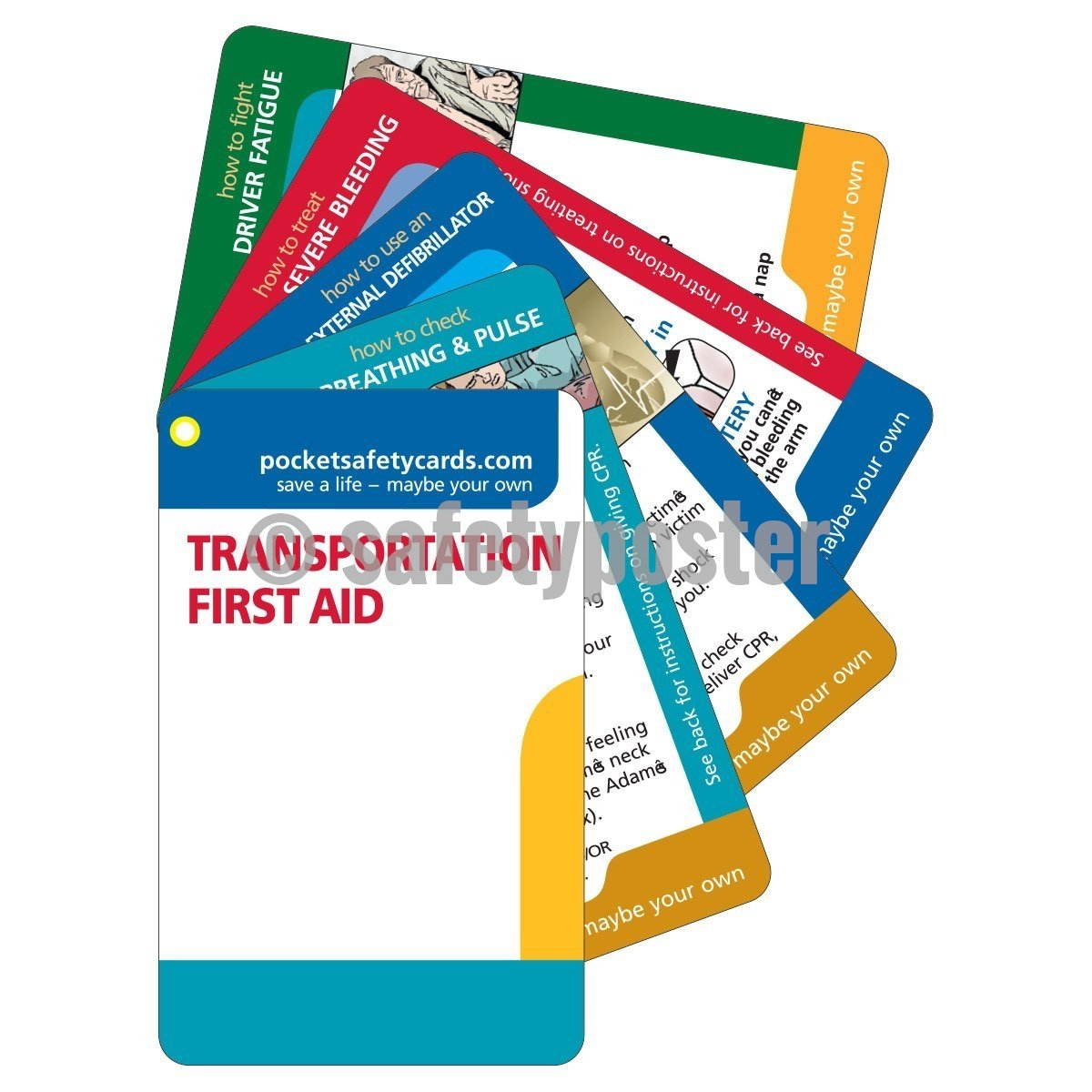 Pocket Cards - Transportation First Aid - safetyposter.com