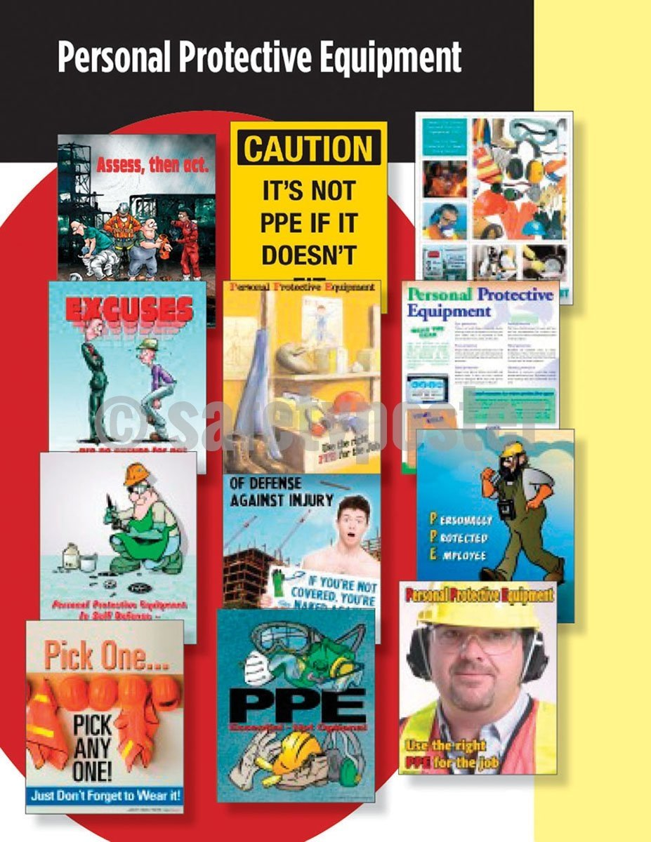 Safety Posters Pack - Personal Protective Equipment #2 Poster Packs