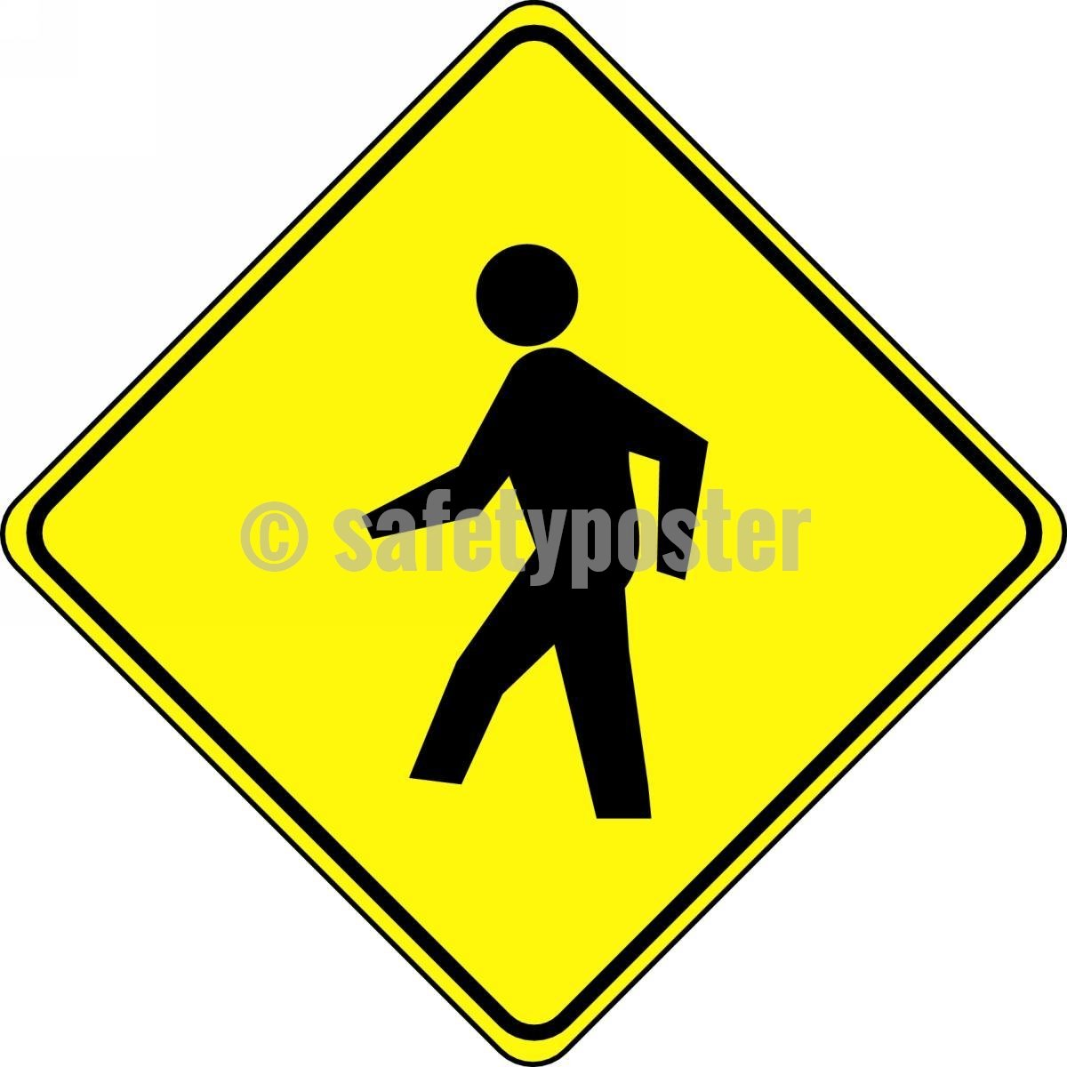Pedestrian Symbol - Floor Sign Adhesive Signs