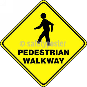 Pedestrian Walkway - Floor Sign Adhesive Signs
