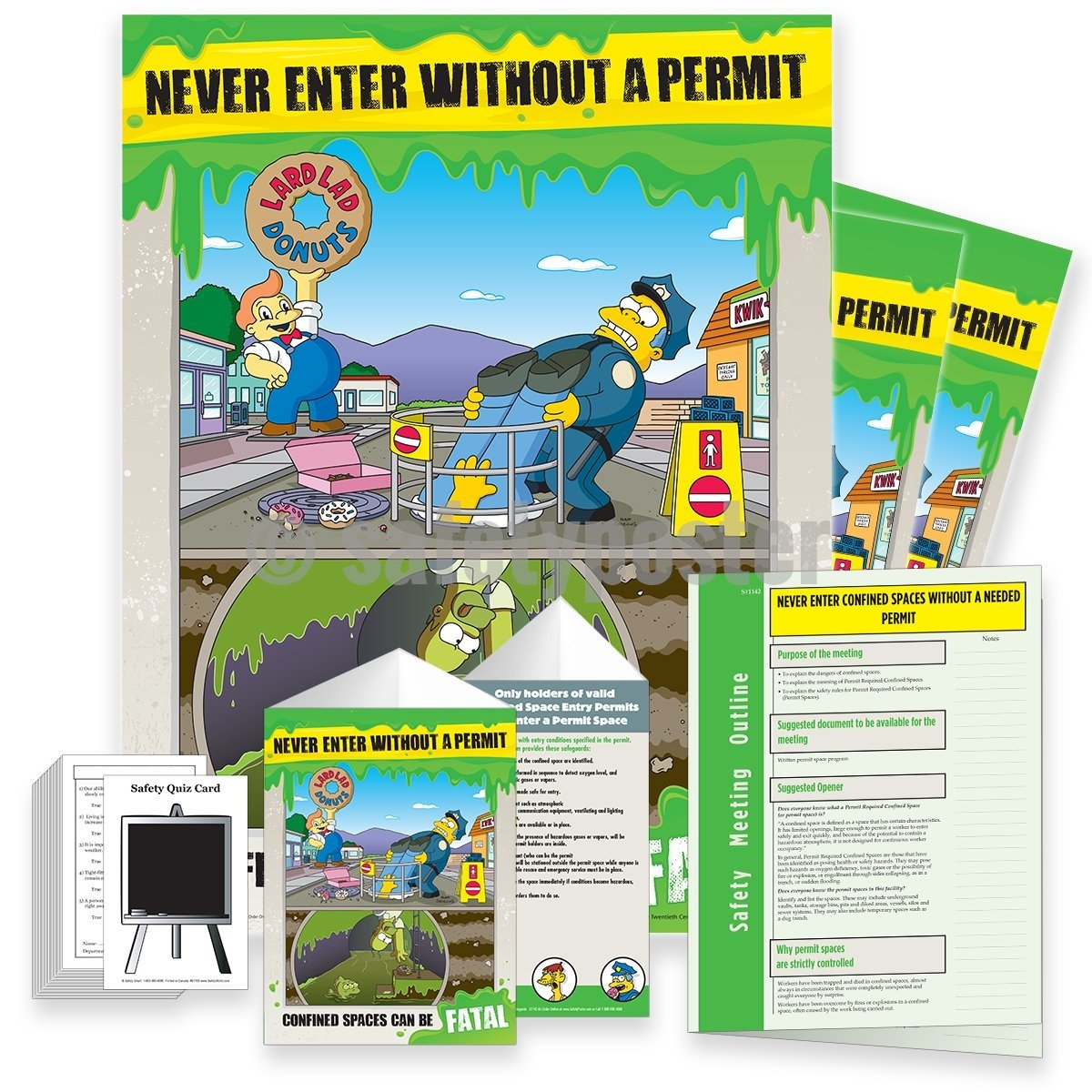 Safety Meeting Kit - Never Enter Without A Permit Confined Spaces Can Be Fatal Kits