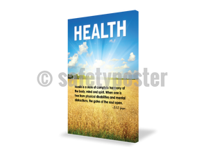 Health Is A State Of Complete Harmony - Visual Edge Sign 17 X 22 / 1