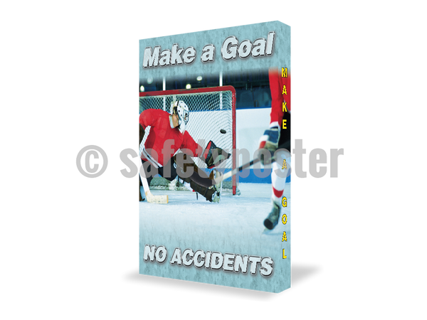 Make A Goal No Accidents - Visual Edge Sign 17 X 22 / 2