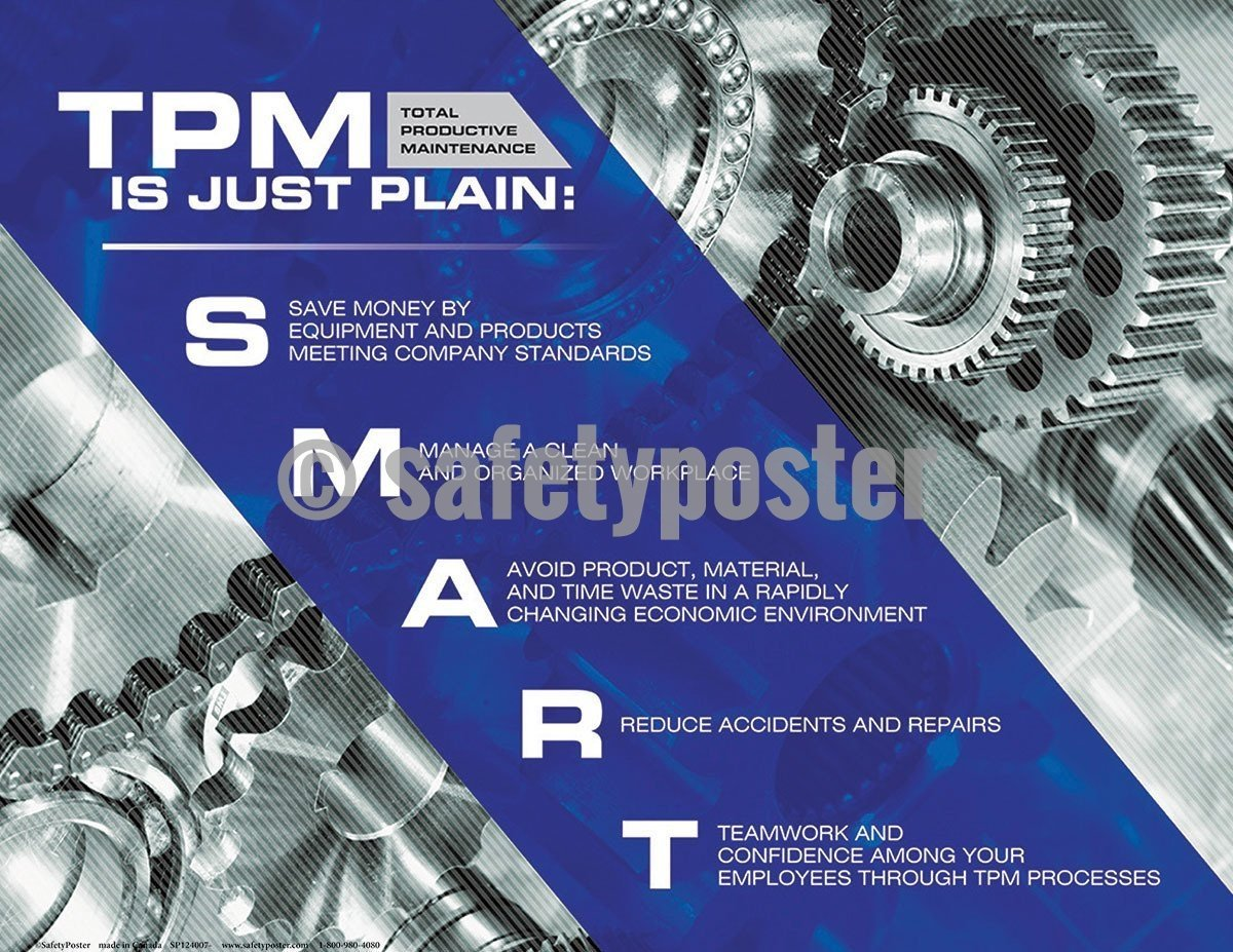 5S Poster TPM Is Just Plain Smart Gears - safetyposter.com