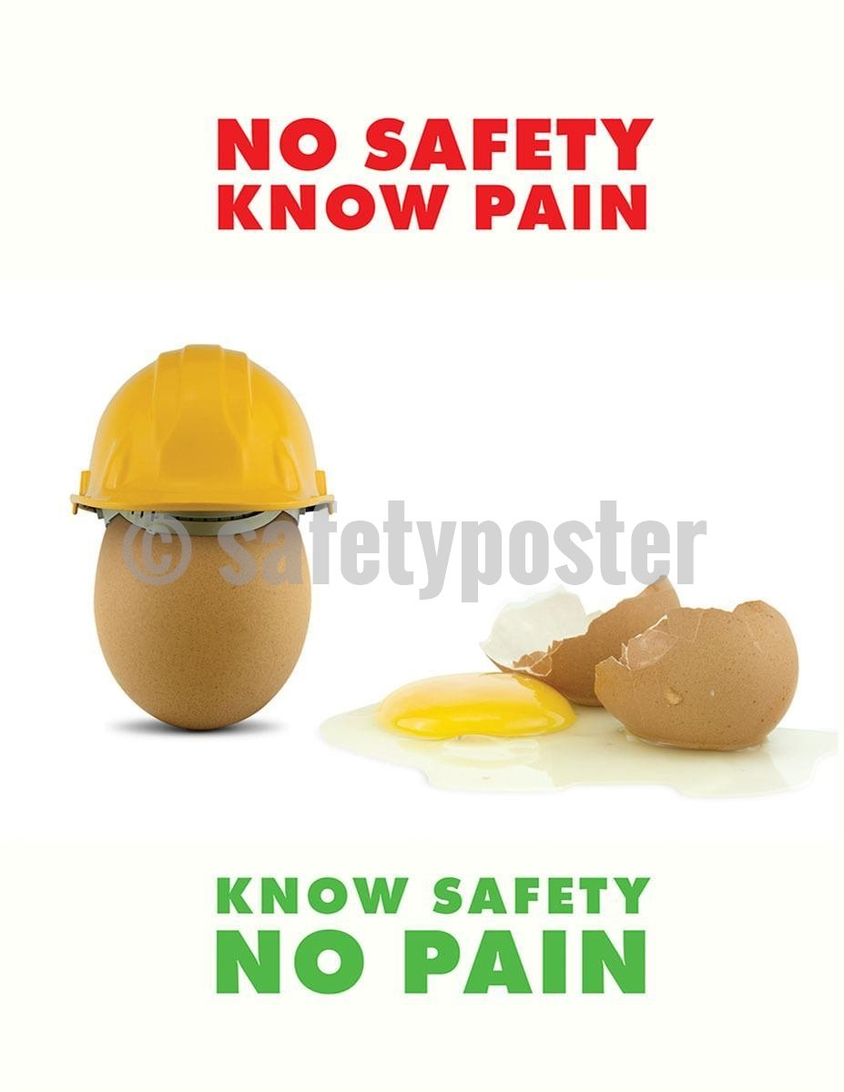 Safety Poster - No Safety Know Pain - safetyposter.com