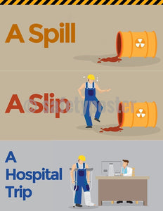 Safety Poster - A Spill A Slip A Hospital Trip - safetyposter.com