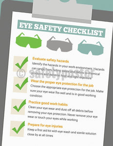 Safety Poster - Eye Safety Checklist - safetyposter.com
