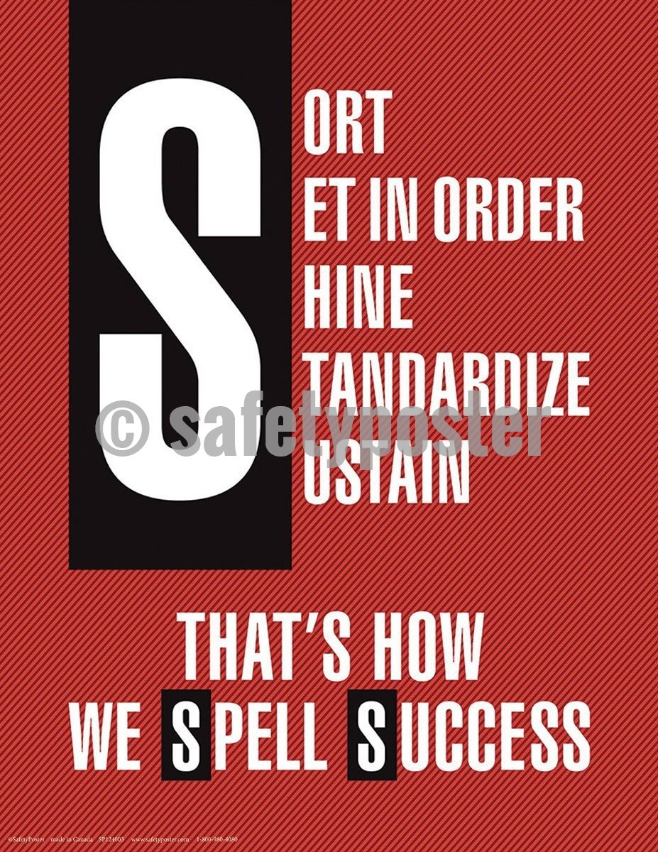 5S Poster That's How We Spell Success (Red) - safetyposter.com