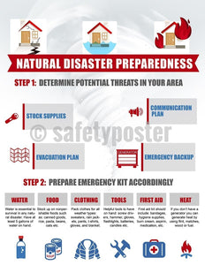 Safety Poster - Natural Disaster Preparedness - safetyposter.com