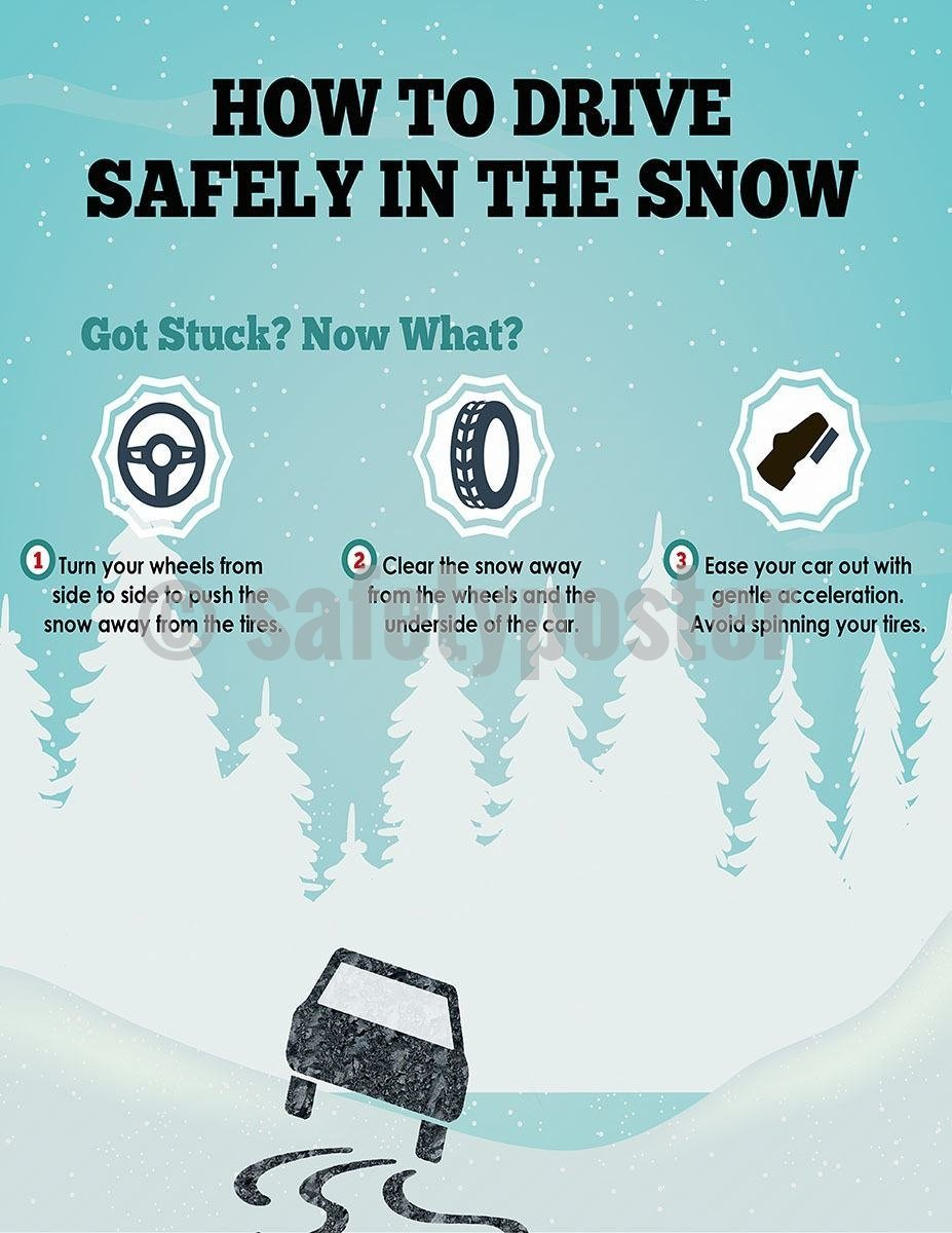 Safety Poster - How To Drive Safely In The Snow - safetyposter.com