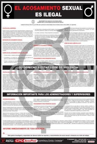 Labor Law Sexual Harassment Poster - safetyposter.com