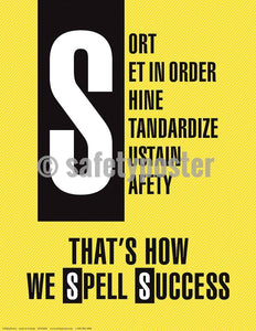 5S Poster That's How We Spell Success (Yellow) - safetyposter.com