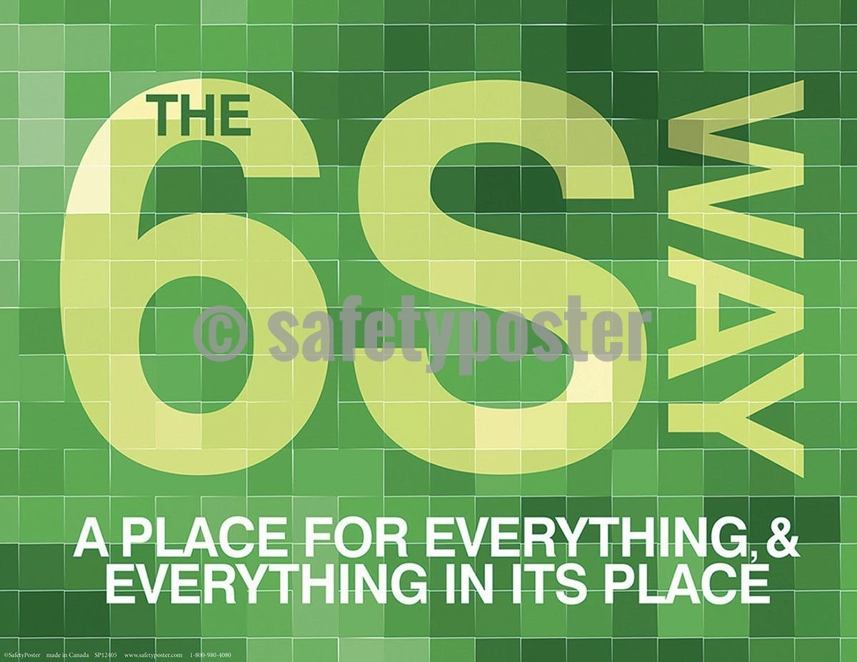 5S Poster The 6S Way (Green) - safetyposter.com