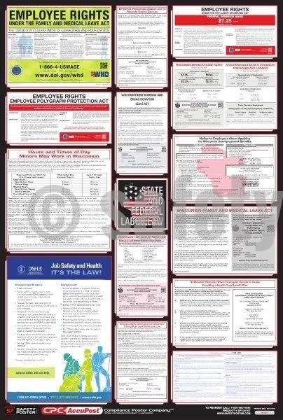 State & Federal Labor Law Poster - safetyposter.com