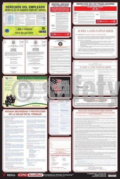 Spanish State & Federal Labor Law Poster - safetyposter.com