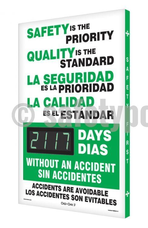 Safety Is The Priority Quality Standard _ Days Without Accident - Digi-Day 3 (Avail. In French)