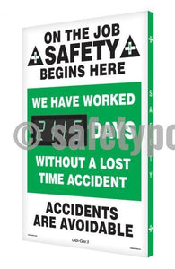 On The Job Safety We Have Worked _ Days Without Accident - Digi-Day 3 Digi-Day® Electronic