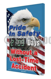 Pride In Safety (Eagle) _ Days Without Lost Time Accident - Digi-Day 3 Digi-Day® Electronic