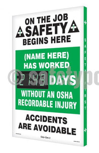 On The Job Safety (Name Here) Has Worked _ Days Without Osha Injury - Digi-Day 3 Digi-Day®