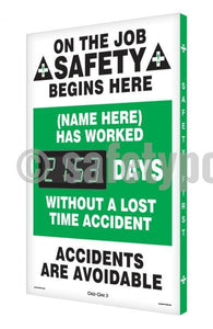 On The Job Safety (Name Here) Has Worked _ Days Without Accident - Digi-Day 3 Digi-Day® Electronic