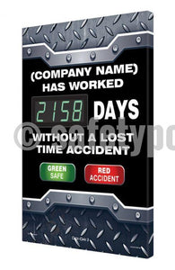 (Company Name) Has Worked _ Days Without Lost Time Accident - Digi-Day 3 Digi-Day® Electronic