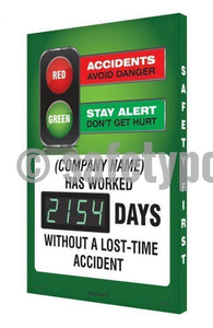 Red & Green (Company Name) Has Worked _ Days Without Accident - Digi-Day 3 Digi-Day® Electronic