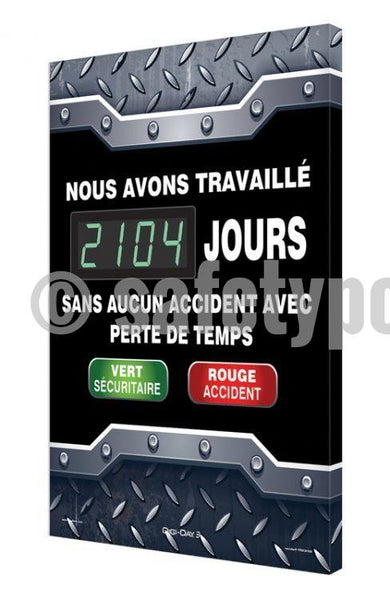 We Have Worked _ Days Without Lost Time Accident - Digi-Day 3 (Avail. In French) French Digi-Day®