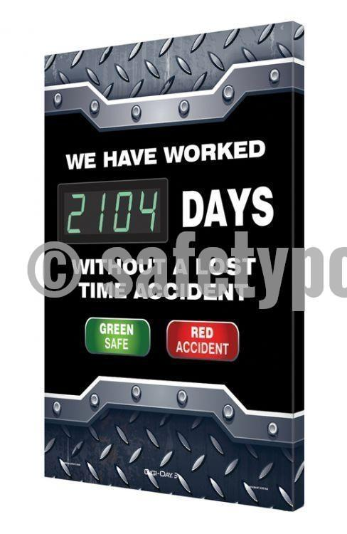 We Have Worked _ Days Without Lost Time Accident - Digi-Day 3 (Avail. In French) English Digi-Day®