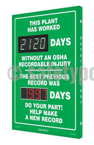This Plant Has Worked _ Days Without Osha Injury - Digi-Day 3 Digi-Day® Electronic Safety