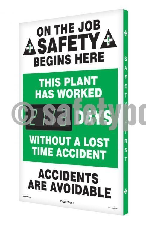 On The Job Safety Plant Has Worked _ Days Without Accident - Digi-Day 3 (Avail. In French) English