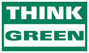 Think Green - Safety Banner Motivational Banners