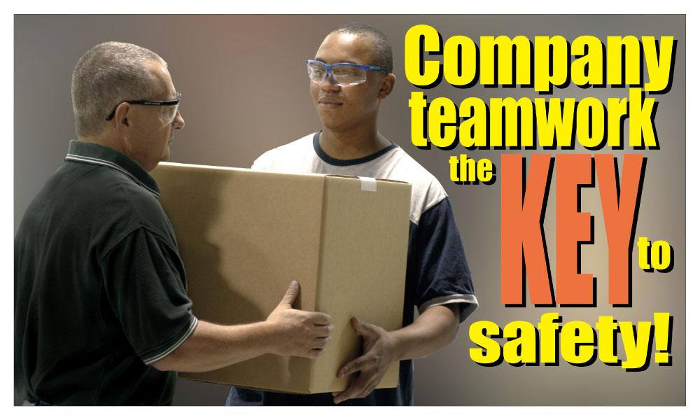 Company Teamwork The Key To Safety - Banner Motivational Banners