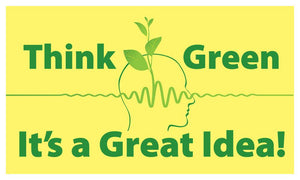 Think Green Its A Great Idea! - Safety Banner 48 X 28 Motivational Banners