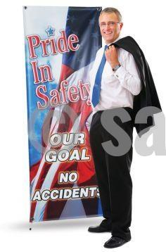 Custom Vinyl Banners (Vertical) Motivational Safety