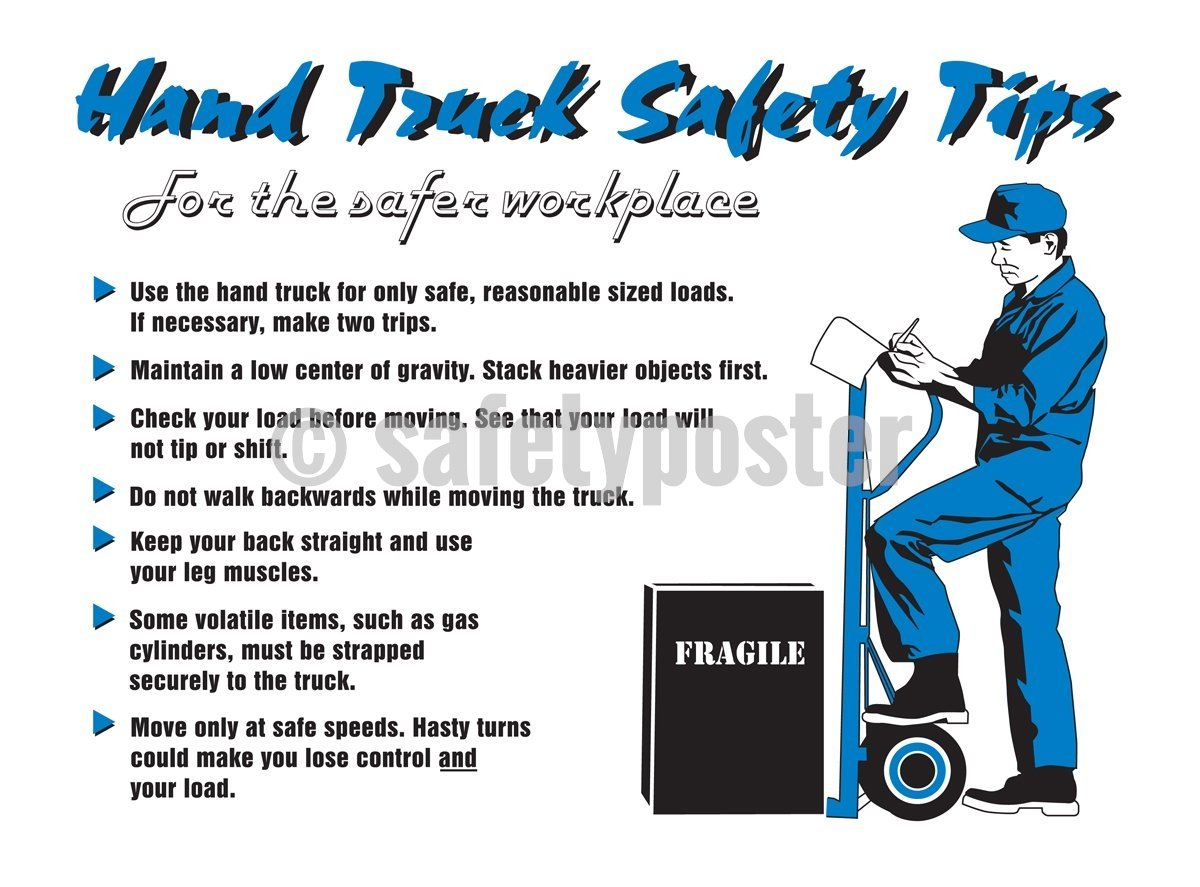 Hand Track Safety Tips - Safety Poster