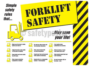 Forklift Safety - Poster Transportation