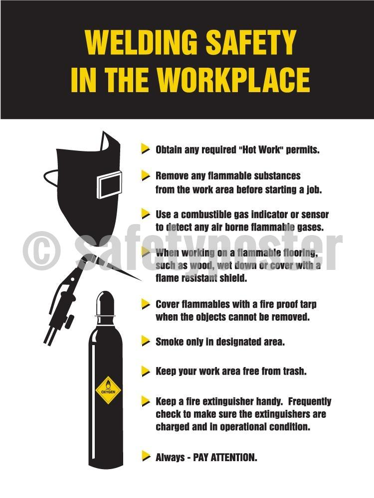 Welding Safety In The Workplace - Poster
