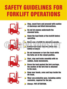 Safety Guidelines For Forklift Operations - Poster Transportation