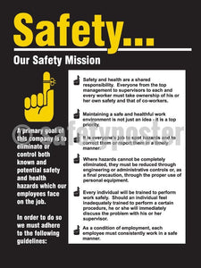 Safetyour Safety Mission - Poster Leadership