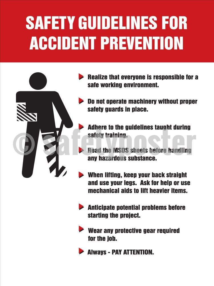 Safety Guidelines For Accident Prevention - Poster