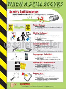 When A Spill Occurs - Safety Poster Chemical