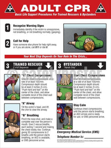 Adult Cpr - Safety Poster General