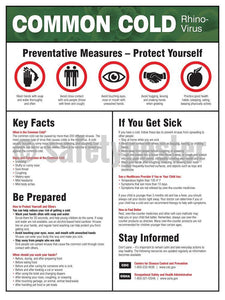 Common Cold Prevention Measures - Safety Poster