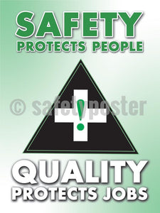 Safety Protects People Quality Jobs - Poster Leadership