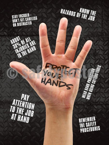 Protect Your Hands - Safety Poster Personal Protective Equipment