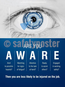 Are You Aware - Safety Poster Leadership
